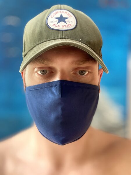 Protective mask with antibacterial treatment